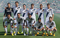 CARSON, CA - March 17, 2013: LA Galaxy Starting line up for the LA Galaxy vs Chivas USA game at the Home Depot Center in Carson, California. Final score LA Galaxy 1, Chivas USA 1.