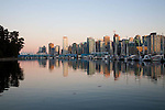 The view of downtown Vancouver from Stanley Park, Vancouver, B.C.