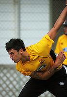 Tipene Friday in action during the Wellington Firebirds training session at Hawkins Basin Reserve, Wellington, New Zealand on Tuesday, 2 October 2012. Photo: Dave Lintott / lintottphoto.co.nz