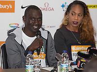 David Rudisha of Kenya (400m/800m) during Pre Event Press Conference at Grange Tower Bridge Hotel, Prescott Street, The Sainsbury's Anniversary Games Diamond League Event. London, England on 23 July 2015. Photo by Andy Rowland.