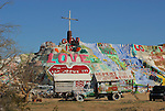 Salvation Mountain near Slab City in Niland