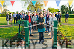 Sensory Park Opening: Niamh ni Dhuill, Enviromentalist from Gortbrack Farm cutting the tape at the opening of the Tarbert  Sensory Park on the N69 as part of the Tarbert Cuckoo Festival on Friday evening last.
