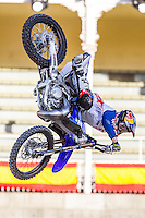 French Fmx rider Tom Pages during qualifying Red Bull X-Fighters 2016 at Madrid. 22,06,2016. (ALTERPHOTOS/Rodrigo Jimenez)
