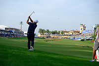 Francesco Molinari (ITA) on the 18th fairway during the 2nd round of the DP World Tour Championship, Jumeirah Golf Estates, Dubai, United Arab Emirates. 16/11/2018<br /> Picture: Golffile | Fran Caffrey<br /> <br /> <br /> All photo usage must carry mandatory copyright credit (© Golffile | Fran Caffrey)