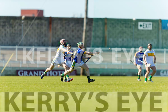 Daniel Collins Kerry in action against  Offaly in the National Hurling League in Austin Stack Park, Tralee on Sunday.