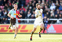 Willie Le Roux of Wasps runs in a try. Aviva Premiership match, between Harlequins and Wasps on February 11, 2018 at the Twickenham Stoop in London, England. Photo by: Patrick Khachfe / JMP