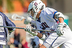 Los Angeles, CA 03/12/16 - Del Smith (Loyola Marymount #21) in action during the Utah State vs Loyola Marymount MCLA Men's Division I game at Leavey Field at LMU.  Utah State defeated LMU 17-4.