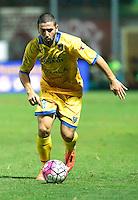 Roberto Crivello durante l'incontro di calcio di Serie A   Frosinone - Torino  allo  Stadio Matusa di   di Frosinone ,23 Agosto 2015
