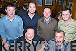Staff from Flaherty Hardware, Kilmoyley having a great time at their Xmas party in Kate Browne's Pub on Saturday night. Seated Maurice McElligot and Aidan Dineen, standing l/r Robert, Liam & Mike Flaherty and Anthony Nolan................................................................................................. ............   Copyright Kerry's Eye 2008