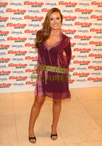REBEKAH GIBBS.Inside Soap Awards 2005 at Floridita London, WI, London..September 26th, 2005.full length purple dress.www.capitalpictures.com.sales@capitalpictures.com.©Capital Pictures