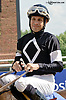 Daniel Centeno after his 1999th winner aboard My Merry Way at Delaware Park on 7/24/14
