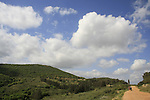 Israel, Lower Galilee. A view of Mount Atzmon