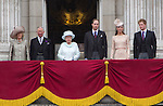 """CHANGING FACE OF THE BRITISH MONARCHY.The new smaller Royal unit  of The Queen, Prince Charles, Camlla, Duchess of Cornwall, Prince William, Prince Harry and Catherine, Duchess of Cambridge, made its first public appearnce on the balcony of Buckingham Palace for the Finale of the 4 day Diamond Jubilee Celebration_London_05/06/2012.Mandatory Credit Photo: ©J Reynolds/NEWSPIX INTERNATIONAL..**ALL FEES PAYABLE TO: """"NEWSPIX INTERNATIONAL""""**..IMMEDIATE CONFIRMATION OF USAGE REQUIRED:.Newspix International, 31 Chinnery Hill, Bishop's Stortford, ENGLAND CM23 3PS.Tel:+441279 324672  ; Fax: +441279656877.Mobile:  07775681153.e-mail: info@newspixinternational.co.uk"""