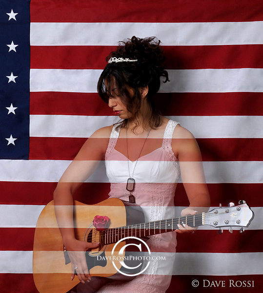 Nikki Briar, singer songwriter, for the CD/Album A Soldiers Princess. This image was concieved, styled, and photographed by Dave Rossi. nicole martinez, nikki briar, soldiers princess; album; cover;