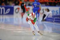 SCHAATSEN: HEERENVEEN: IJsstadion Thialf, 12-01-2013, Seizoen 2012-2013, Essent ISU EK allround, 500m Ladies, Agotha Toth (HUN), ©foto Martin de Jong