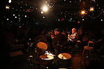Blind Boy Paxton and Eddy David performs at the New York Hot Jazz Festival own September 30, 2018 at The McKittrick Hotel in New York City.