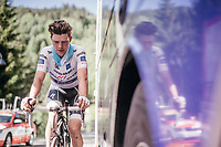 Post-stage warm down for Bob Jungels (LUX/Quick-Step Floors) who lost his Maglia Bianca / best young rider today to Adam Yates<br /> <br /> Stage 18: Moena › Ortisei/St. Urlich (137km)<br /> 100th Giro d'Italia 2017