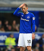 17th March 2019, Goodison Park, Liverpool, England; EPL Premier League Football, Everton versus Chelsea; Gylfi Sigurdsson of Everton reacts after Everton miss an opportunity to score