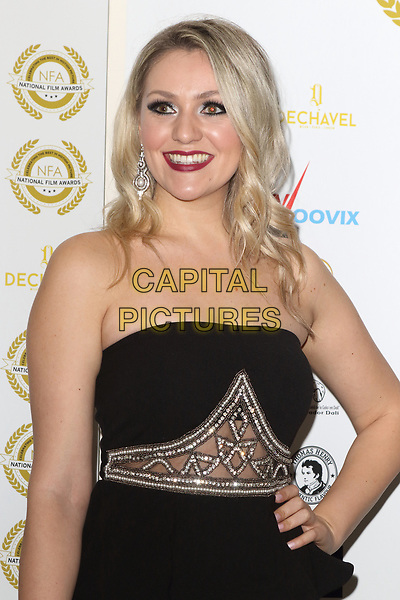 Larissa Eddie at the National Film Awards at the Porchester Hall, London on  Wednesday 28 March 2018 <br /> CAP/ROS<br /> &copy;ROS/Capital Pictures