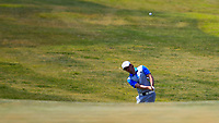 Ewen Ferguson (SCO) on the 2nd during the 1st round of the 2017 Portugal Masters, Dom Pedro Victoria Golf Course, Vilamoura, Portugal. 21/09/2017<br /> Picture: Fran Caffrey / Golffile<br /> <br /> All photo usage must carry mandatory copyright credit (&copy; Golffile | Fran Caffrey)