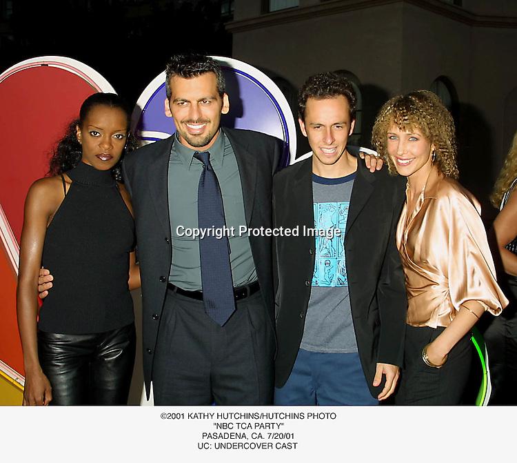 """©2001 KATHY HUTCHINS/HUTCHINS PHOTO.""""NBC TCA PARTY"""".PASADENA, CA. 7/20/01.UC: UNDERCOVER CAST"""