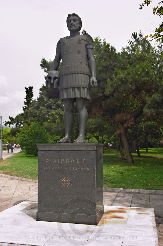 Statue of king Philippos of Macedonia. Thessaloniki, Macedonia, Greece