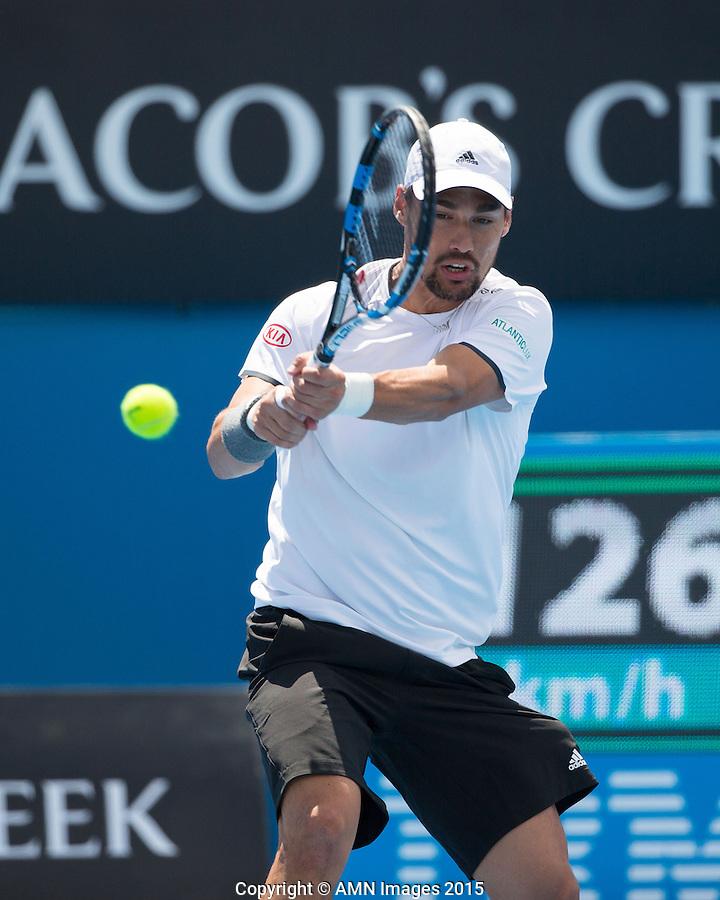 Fabio Fognini (ITA)<br /> <br /> Tennis - Australian Open 2015 - Grand Slam -  Melbourne Park - Melbourne - Victoria - Australia  - 23 January 2015. <br /> &copy; AMN IMAGES