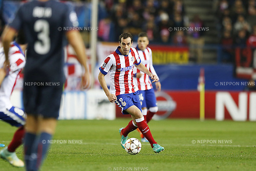 Diego Godin (Atletico), NOVEMBER 26, 2014 - Football / Soccer : UEFA Champions League Group A match between Club Atletico de Madrid 4-0 Olympiacos FC at the Vicente Calderon Stadium in Madrid, Spain. (Photo by Mutsu Kawamori/AFLO) [3604]
