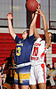 Brittny Membreno #33 of Massapequa, left, and Jada Hill #10 of Freeport battle for a rebound during a Nassau County AA-1 varsity girls basketball game at Freeport High School on Friday, Dec. 22, 2017. Massapequa won by a score of 43-39.