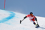 Hiraku Misawa (JPN),<br /> MARCH 11, 2018 - Alpine Skiing : <br /> Men's Super G Standing <br /> at Jeongseon Alpine Centre  <br /> during the PyeongChang 2018 Paralympics Winter Games in Pyeongchang, South Korea. <br /> (Photo by Yusuke Nakanishi/AFLO SPORT)