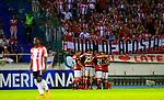 Flamengo venció 0-2 (1-4 en el global) a Junior. Semifinal vuelta Conmebol Sudamericana 2017.