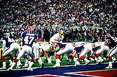 Washington Redskins quarterback Mark Rypien (11) calls signals during Super Bowl XXVI against the Buffalo Bills in Minneapolis, Minnesota on January 26, 1992.  The Redskins won the game and the World Championship 37 - 24.<br /> Credit: Arnie Sachs / CNP