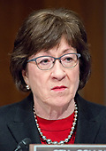 United States Senator Susan Collins (Republican of Maine) during the confirmation hearing for R. Alexander Acosta, Dean of Florida International University College of Law and US President Donald J. Trump's nominee for US Secretary of Labor, on Capitol Hill in Washington, DC on Wednesday, March 22, 2017.<br /> Credit: Ron Sachs / CNP