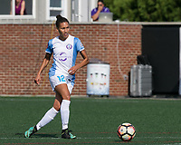 Boston, MA - Saturday August 19, 2017: Kristen Edmonds during a regular season National Women's Soccer League (NWSL) match between the Boston Breakers (blue) and the Orlando Pride (white/light blue) at Jordan Field. Orlando Pride defeated Boston Breakers, 2-1.