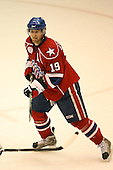March 15, 2009:  Left Wing Karl Stewart (19) of the Rochester Amerks, AHL affiliate of Florida Panthers, during the third period of a regular season game at the Blue Cross Arena in Rochester, NY.  Hamilton defeated Rochester 4-3 in a shoot out.  Photo Copyright Mike Janes Photography 2009