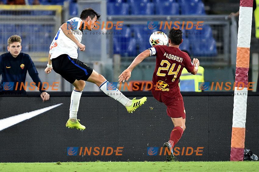 Marten de Roon of Atalanta BC scores the goal of 0-2 for his side <br /> Roma 25-9-2019 Stadio Olimpico <br /> Football Serie A 2019/2020 <br /> AS Roma - Atalanta Bergamasca Calcio <br /> Foto Andrea Staccioli / Insidefoto