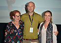 FORT LAUDERDALE, FLORIDA - NOVEMBER 09: (R-L) Radha Mitchell, Ben Hackworth and Estelle Fineberg arrive at the 34th Annual Fort Lauderdale International Film Festival - Radha Mitchell & Justin Long Honored With Career Achievement Awards at Savor Cinema on November 09, 2019 in Fort Lauderdale, Florida. ( Photo by Johnny Louis / jlnphotography.com )