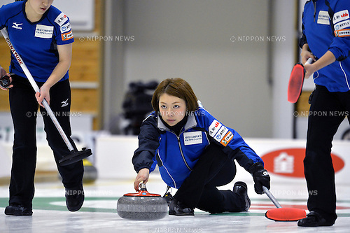 Mari Motohashi (LS Kitami),.OCTOBER 25,2012 - Curling : 2012 Pacific Asian curing championship Japan Tournament the 1st game at Hokkaido Bank Curling Stadium, Hokkaido, Japan. (Photo by Jun Tsukida/AFLO SPORT)[0003]