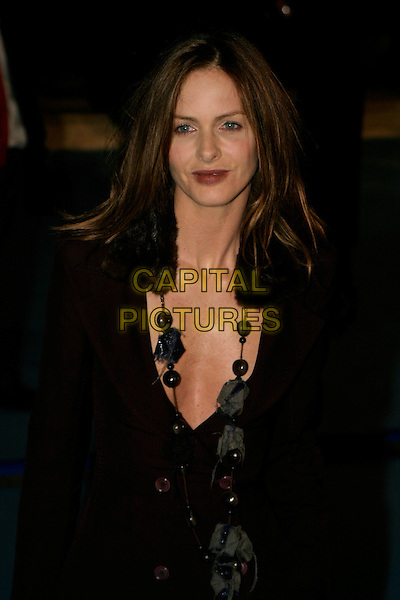 "TRINNY WOODALL.""The Chronicles of Narnia: The Lion, The Witch & The Wardrobe"" - world premiere at the Royal Albert Hall, London, UK..December 7th, 2005.Ref: AH.half length plunging neckline necklace.www.capitalpictures.com.sales@capitalpictures.com.©Capital Pictures"