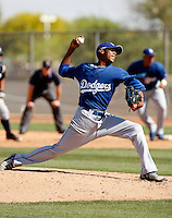 Elisaul Pimentel - Los Angeles Dodgers - 2009 spring training.Photo by:  Bill Mitchell/Four Seam Images