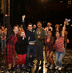 Broadway cast debuts during the Actors' Equity Opening Night Gypsy Robe Ceremony honoring Joseph Medeiros for 'Groundhog Day' at the August Wilson Theatre on April 17, 2017 in New York City