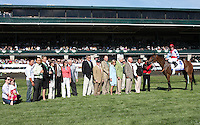 Karlovy Vary and James Graham win the 75th running of the Central Bank Ashland GRI $500,000 at Keeneland Racecourse for trainer George Arnold and owner Alex Campbell Jr.  April 7, 2012.