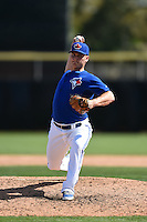 Toronto Blue Jays pitcher Matt West (76) during a Spring Training game against the Houston Astros on March 9, 2015 at Florida Auto Exchange Stadium in Dunedin, Florida.  Houston defeated Toronto 1-0.  (Mike Janes/Four Seam Images)