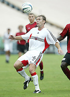 26 June 2004:   DC United Bryan Namoff in action against Dallas Burn at Cotton Bowl in Dallas, Texas.   DC United and Dallas Burn are tied 1-1 after the game.   Credit: Michael Pimentel / ISI