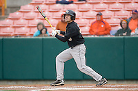 Tyler Smith #3 of the Wake Forest Demon Deacons follows through on his swing versus the Clemson Tigers at Doug Kingsmore stadium March 13, 2009 in Clemson, SC. (Photo by Brian Westerholt / Four Seam Images)