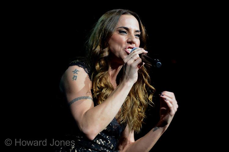 Melanie Chisholm makes a guest appearence at Jools Holland's Royal Albert hall concert. London 29th November 2013