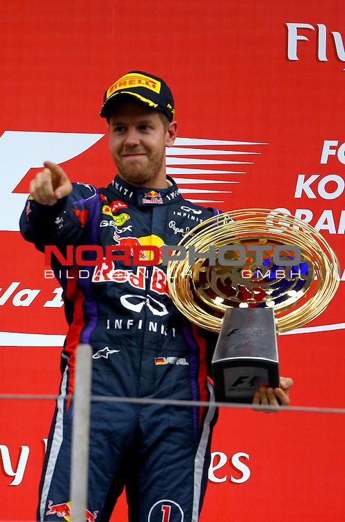 Podium - Sebastian Vettel (GER), Red Bull Racing <br /> for Austria &amp; Germany Media usage only!<br />  Foto &copy; nph / Mathis