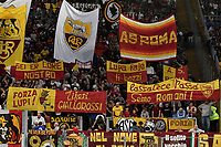 AS Roma fans cheer on <br /> Roma 25-9-2019 Stadio Olimpico <br /> Football Serie A 2019/2020 <br /> AS Roma - Atalanta Bergamasca Calcio <br /> Foto Andrea Staccioli / Insidefoto