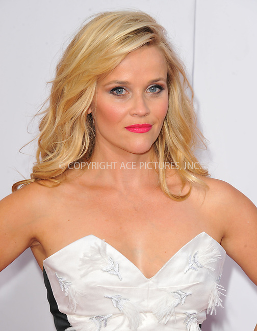 WWW.ACEPIXS.COM<br /> <br /> April 30 2015, LA<br /> <br /> Actress Reese Witherspoon arriving at the premiere of 'Hot Pursuit' at the TCL Chinese Theatre on April 30, 2015 in Hollywood, California. <br /> <br /> <br /> Please byline: Peter West/ACE Pictures<br /> <br /> ACE Pictures, Inc.<br /> www.acepixs.com<br /> Email: info@acepixs.com<br /> Tel: 646 769 0430