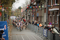 Laurens Sweeck (BEL/ERA-Murprotec) leading the peloton at the start of the race<br /> <br /> Jaarmarktcross Niel 2015  Elite Men &amp; U23 race